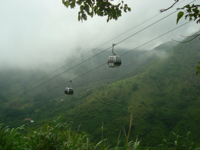 the cable cars at obudu resort
