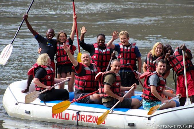 rafting sur le zambèze