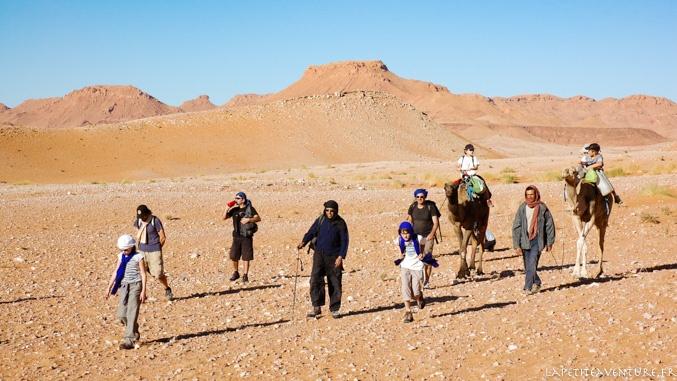 caravane du désert au Maroc