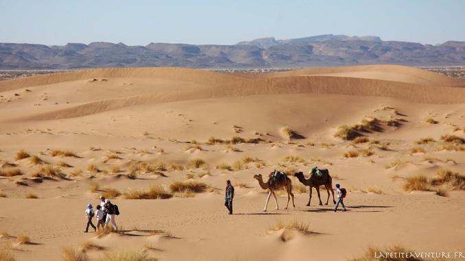 marche dans le désert au Maroc