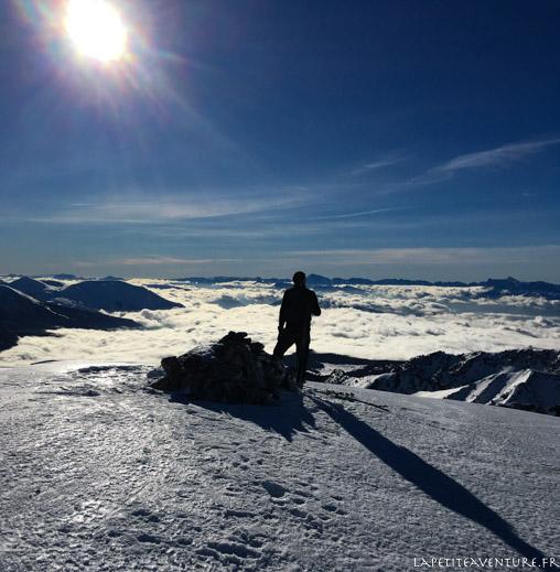 Skieur de rando aux Vans