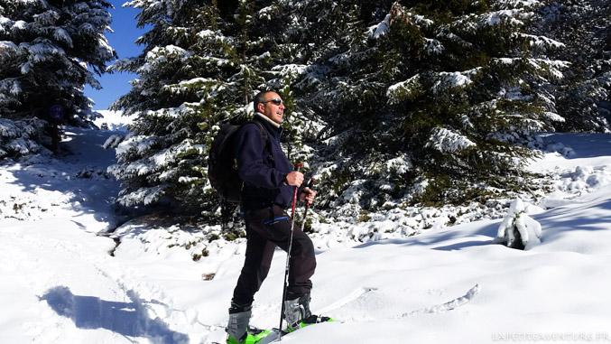 Ski de rando à Chamrousse
