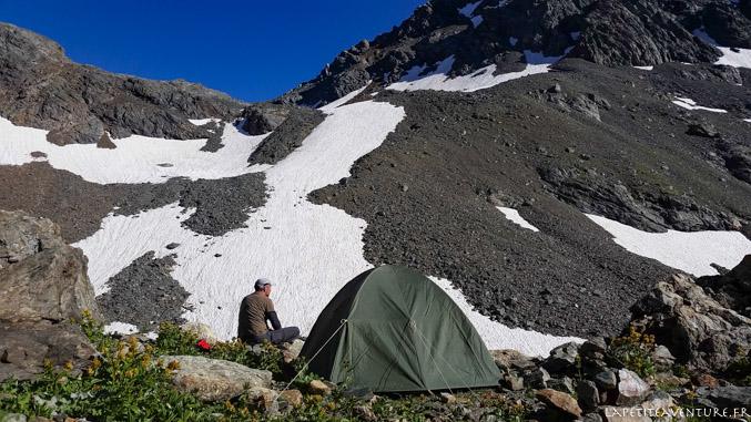 Tente dans le massif de Belledonne
