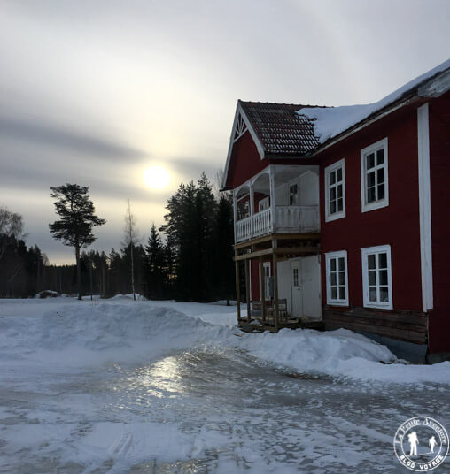 Maison rouge en Suède