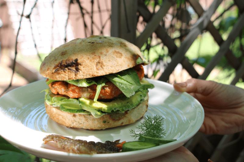 Burger au saumon