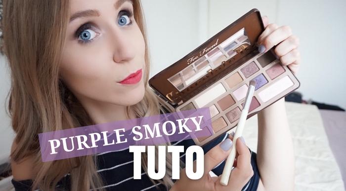 Tutoriel maquillage purple smoky - La Petite Frenchie