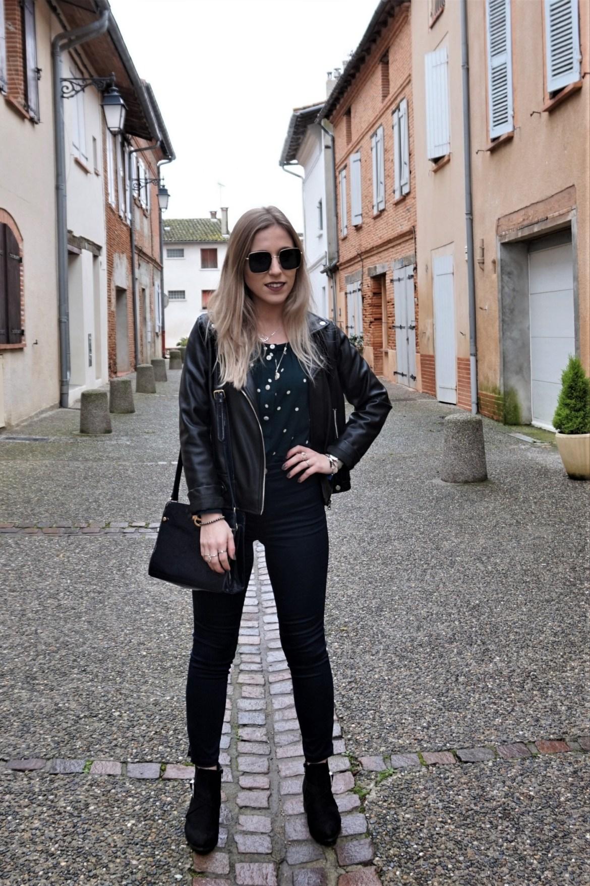 Look blouse à pois - La Petite Frenchie