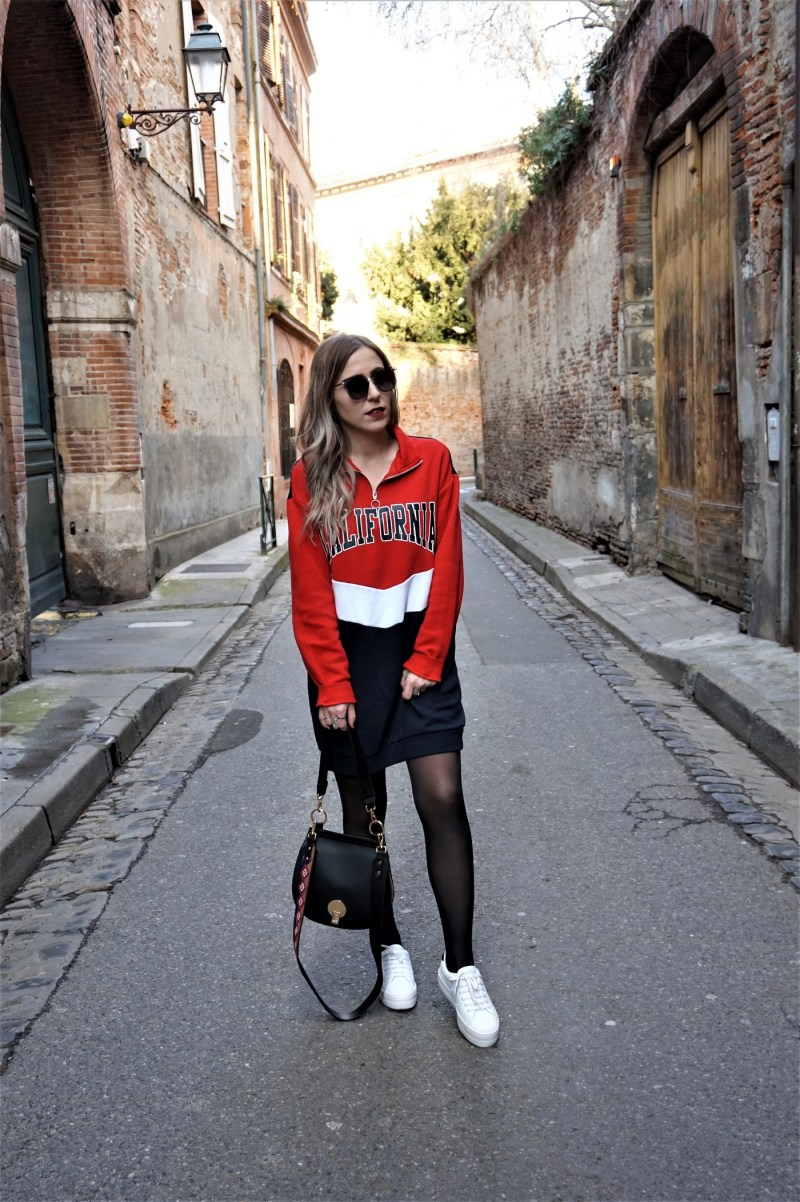 Look sportwear robe sweat - La Petite Frenchie
