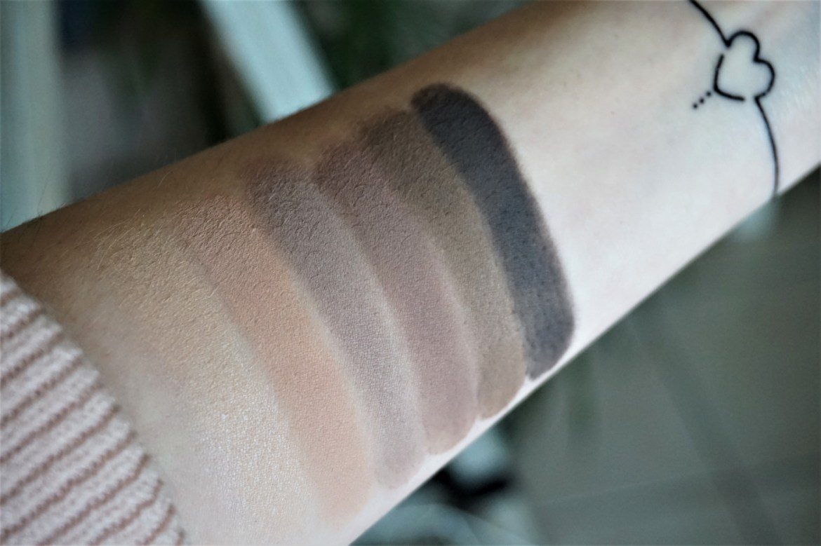 Swatchs palette Naked Basics 2 Urban Decay - La Petite Frenchie