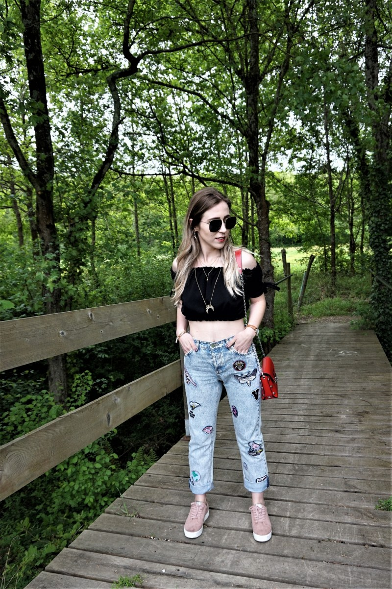Look jeans boyfriend by Georgia May Jagger - La Petite Frenchie