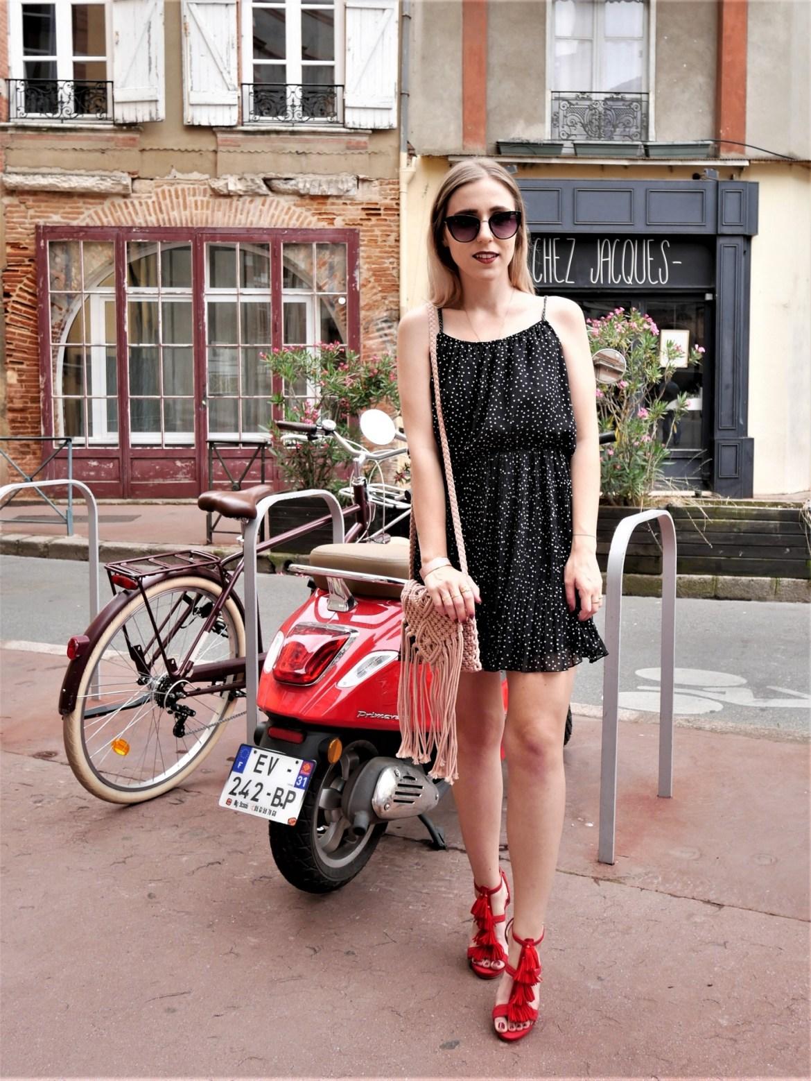 Look petite robe à pois - La Petite Frenchie