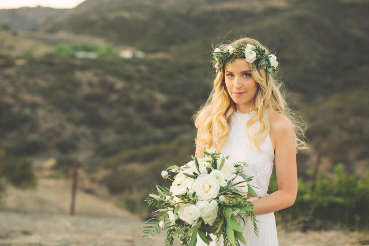 Rustic Vineyard Wedding In Agoura Hills Flowers By La