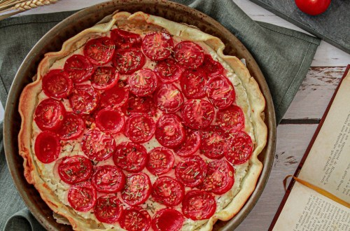 Tarte fine ricotta, tomates & parmesan - La petite liste de Manon