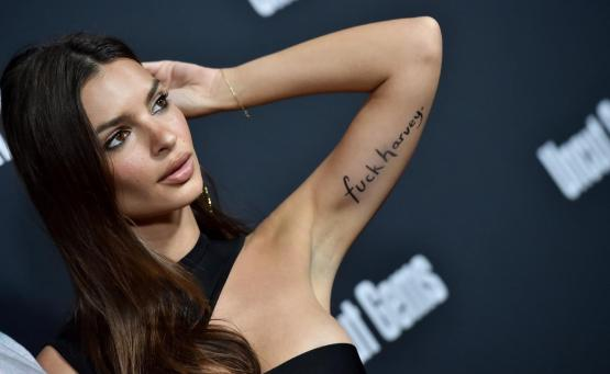 Emrata s'insurgeant face à l'affaire Harvey Weinstein.