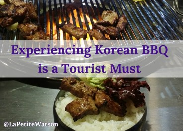 Experiencing Korean BBQ is a Tourist Must. Read all about my Korean food experience here. - Lea in Korea La Petite Watson