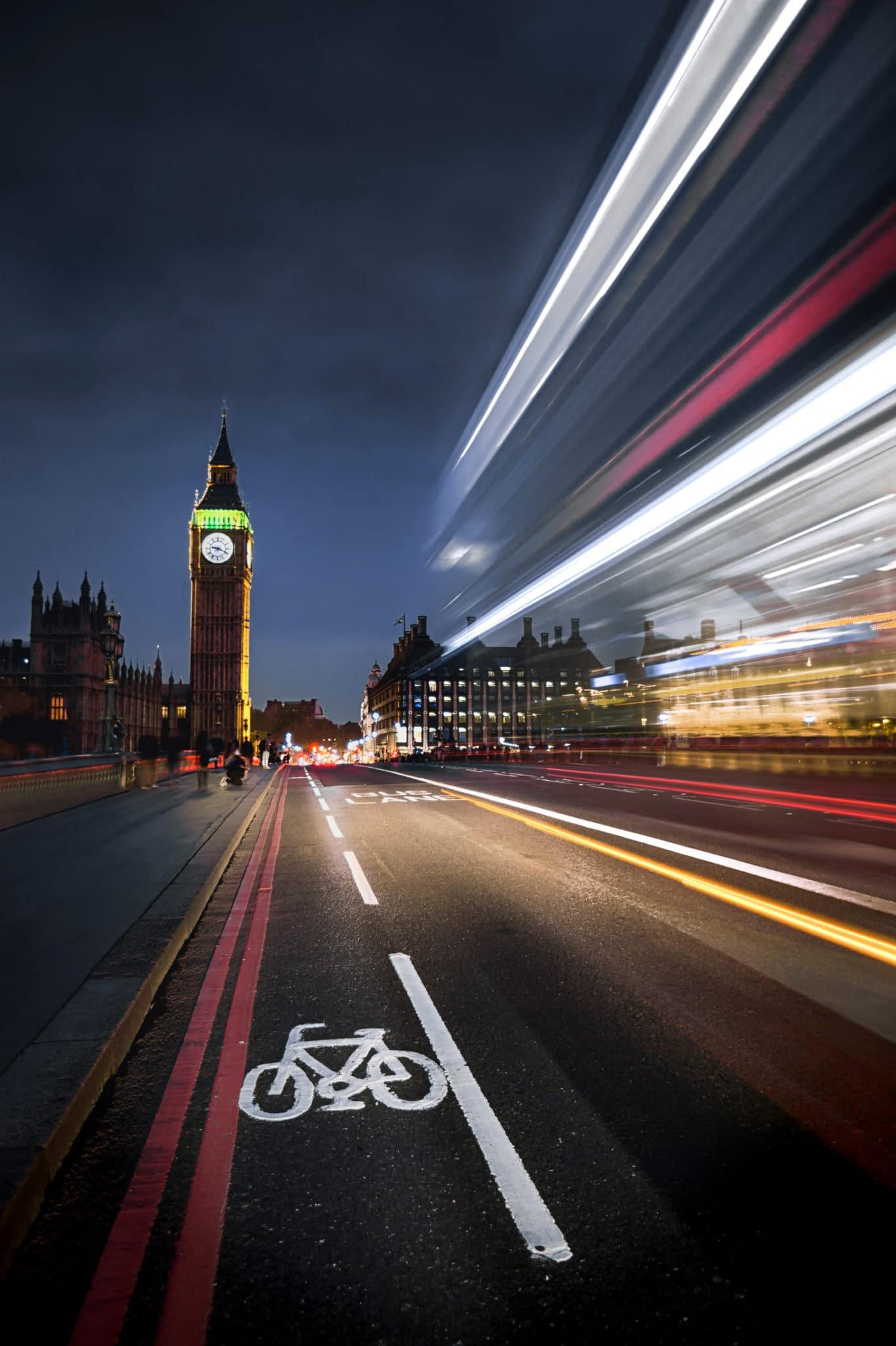 Vitesse d'obturation et pose longue, Londres pour illustrer l'article sur la vitesse d'obturation