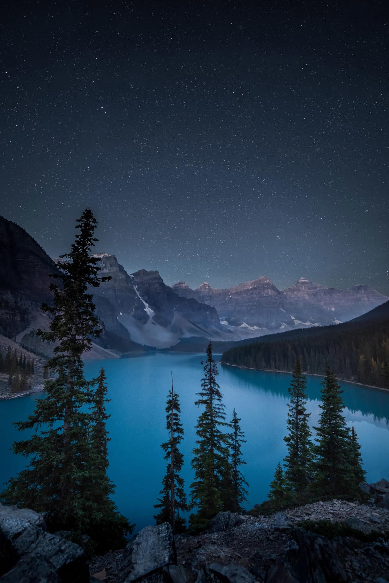 Vitesse d'obturation et pose longue, Moraine lake, Canada pour illustrer l'article sur la vitesse d'obturation