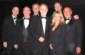 2007 Spotlight Awards Orchestra at the Dorothy Chandler Pavilion: John Beasley, Tom Hynes, John Sawoski, Kim Richmond,Giovanna Joyce Imbesi, Joel Hamilton, & Ralph Razze.