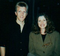 John Sawoski with Lucy Simon, Composer of the Broadway musical The Secret Garden, in Vancouver in 1994 at the end of the first national tour of The Secret Garden.