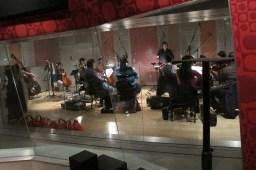 Conducting at Firehouse Studios.