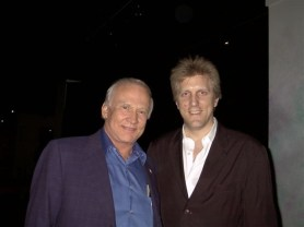 With Buzz Aldrin after a performance with Dennis McNeil.