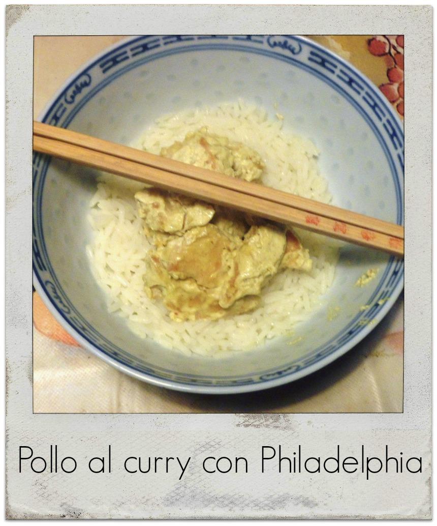 Pollo al curry con Philadelphia