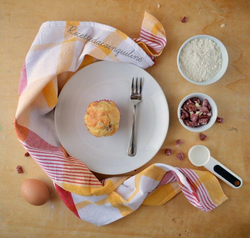 Muffin salati – formaggio e salame