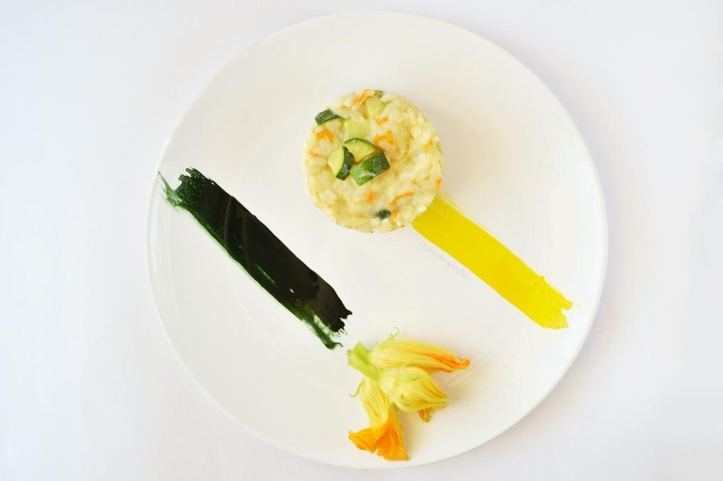 Risotto fiori di zucca & zucchine