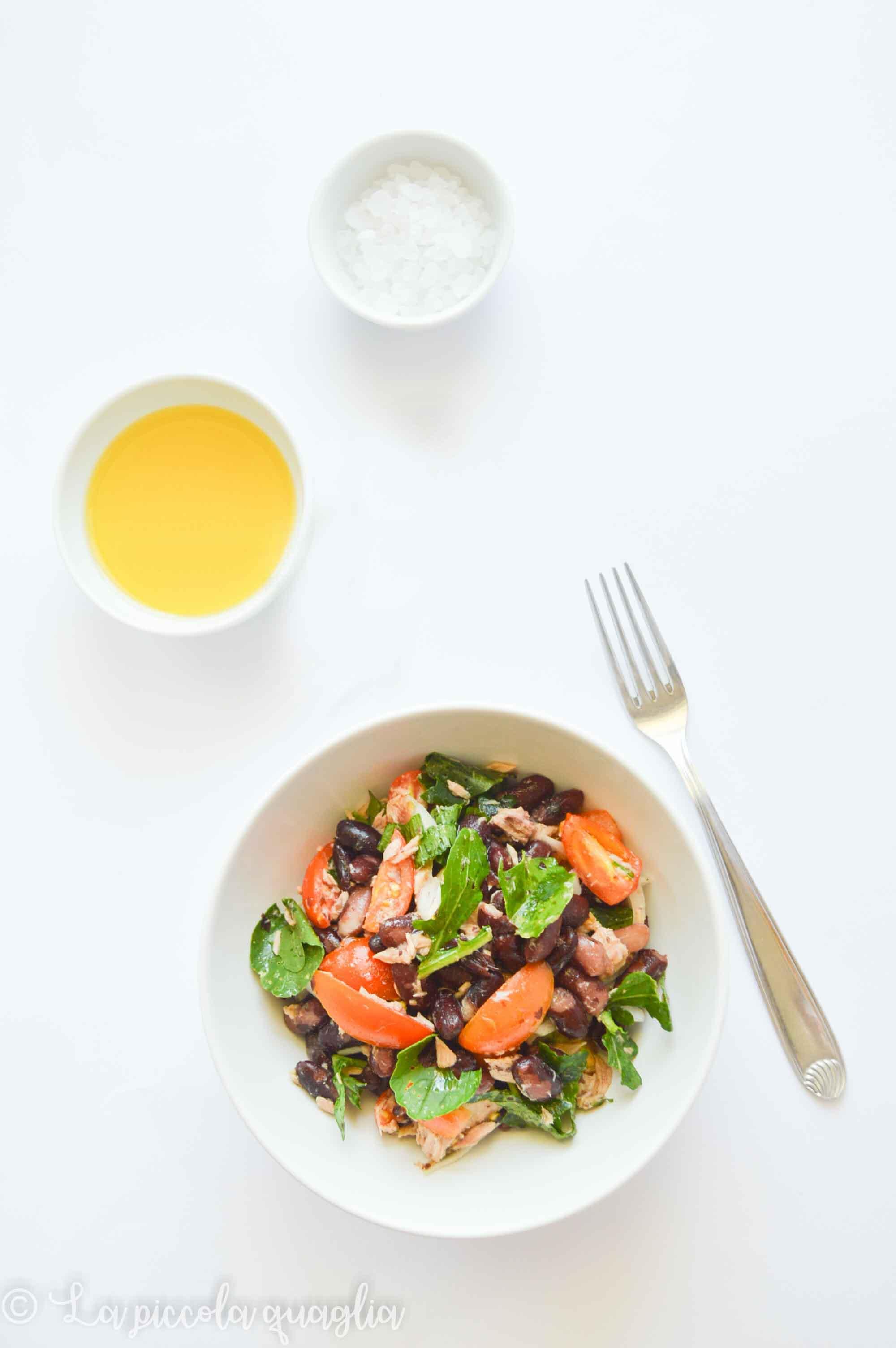 I menù fuori casa: insalata di fagioli