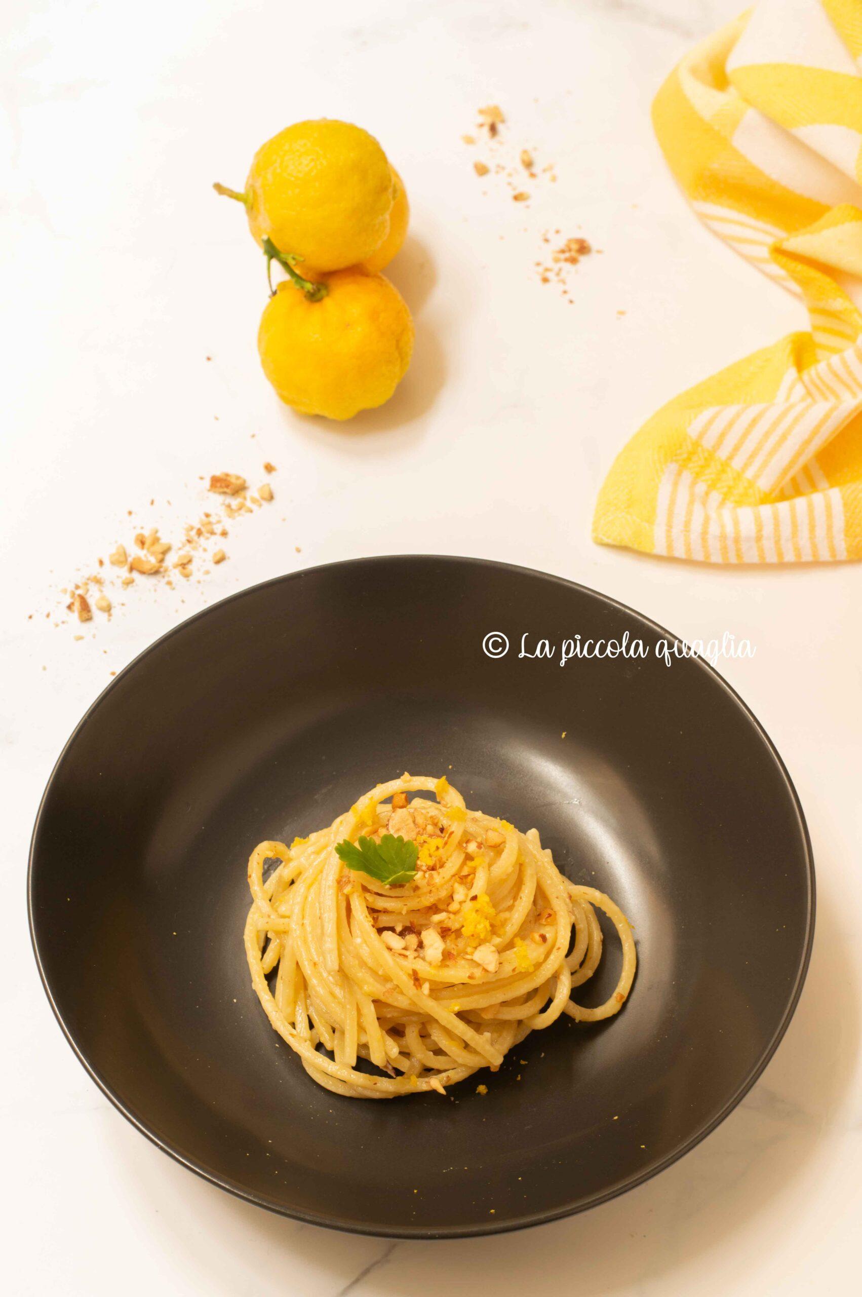 Spaghetti al bergamotto