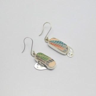 Arete en plata ley .950 y cerámica Mata Ortiz. pídala con la clave: ArCMOP/003. PIEZA ÚNICA
