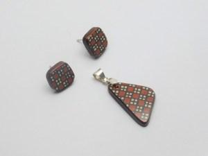 Mosaico en plata ley .950 y cerámica Mata Ortiz. pídala con la clave MoCMOAg/005. PIEZA ÚNICA