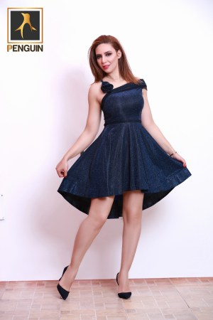 Code_[Mena970]_Short-Soiree_dress_with_flower_tie_sleeve
