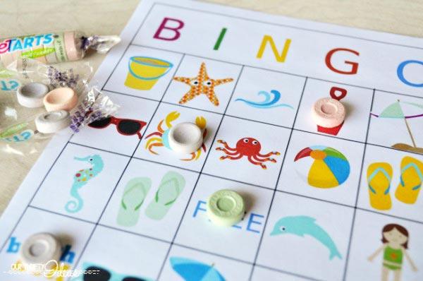 imprime este bingo de verano