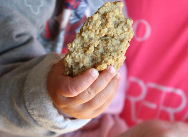 galletas de avena y manzana para los peques de la casa