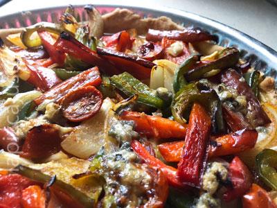 coca de verduras horneada