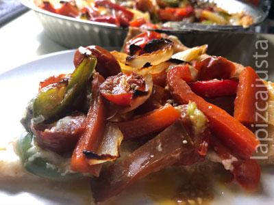 porción coca de verduras