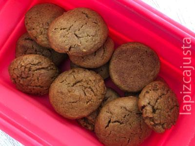 galletas de calabaza asada en el tupper
