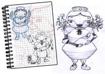 "DISEÑO DE PERSONAJES: ""Nurse robot"""
