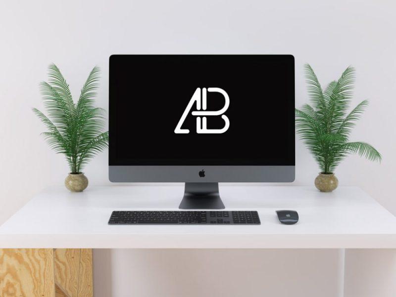 iMac Pro on Desk Mockup