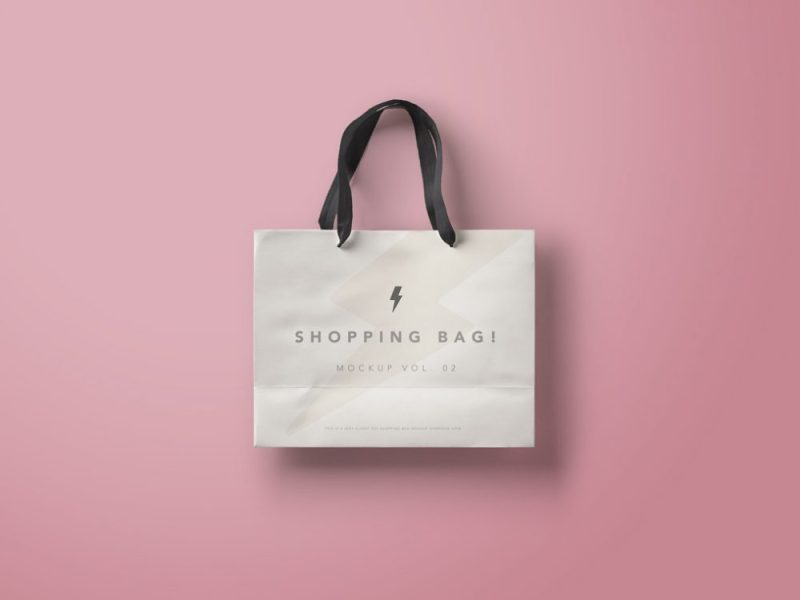 Branded Paper Shopping Bag Mockup