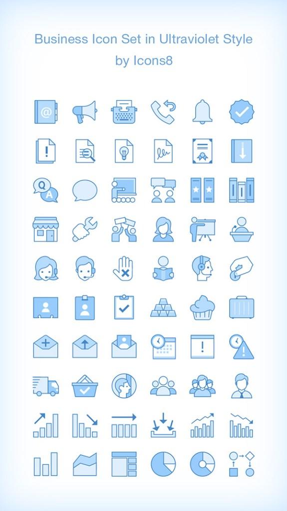 60 iconos de negocios