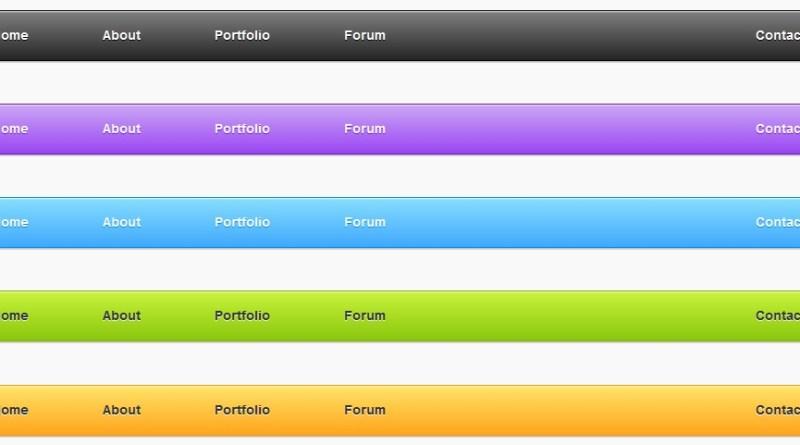 Menús de navegación PSD gratuitos para diseños web