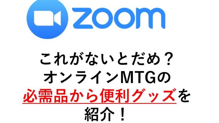 ZOOM,Skype,Google Meetであると便利なグッズ、必需品、カメラ、あるといい道具、背景を消す!オンラインMTGのおすすめグッズ!