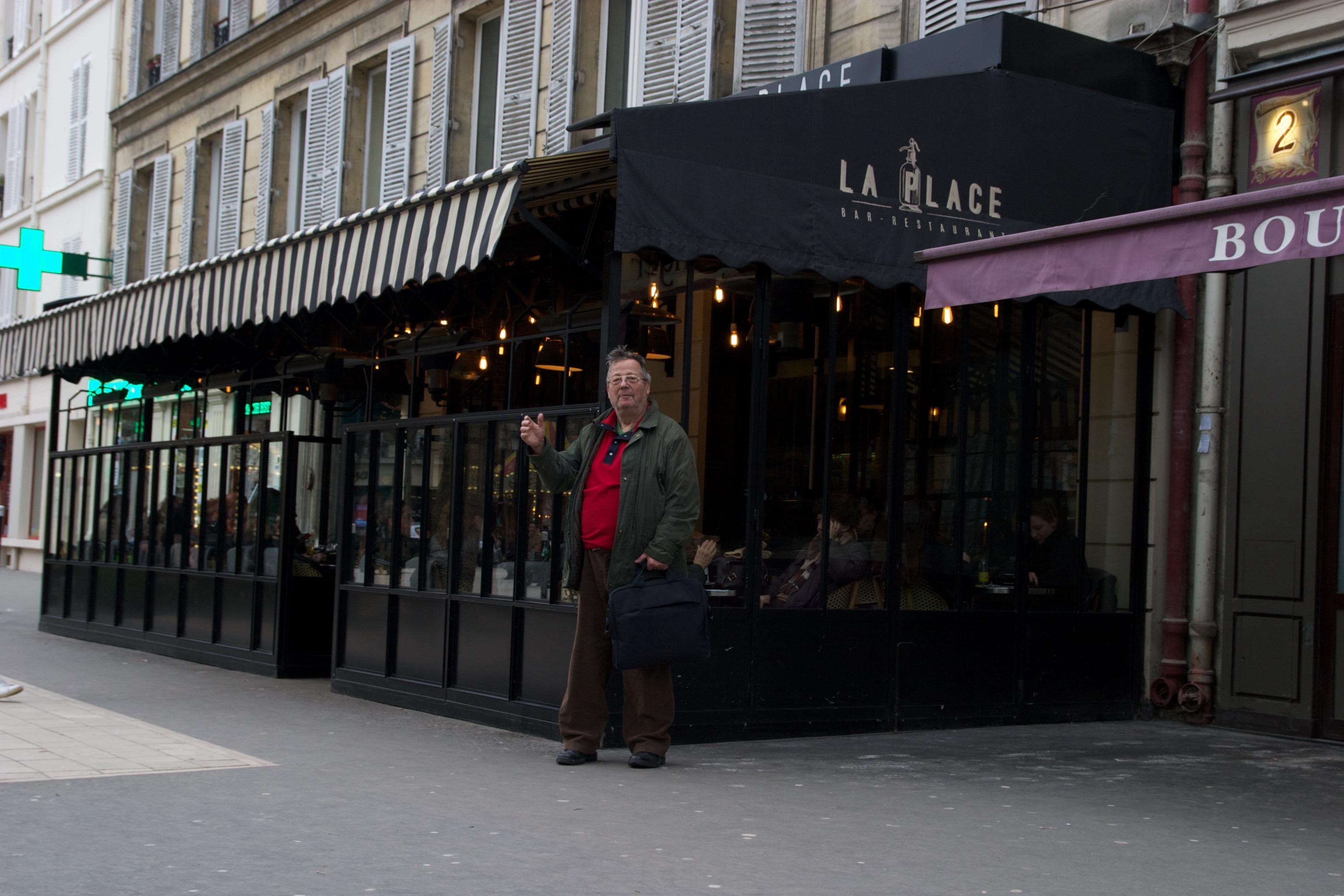 Terrasse hiver, client, restaurant, bar, La Place, Neuilly