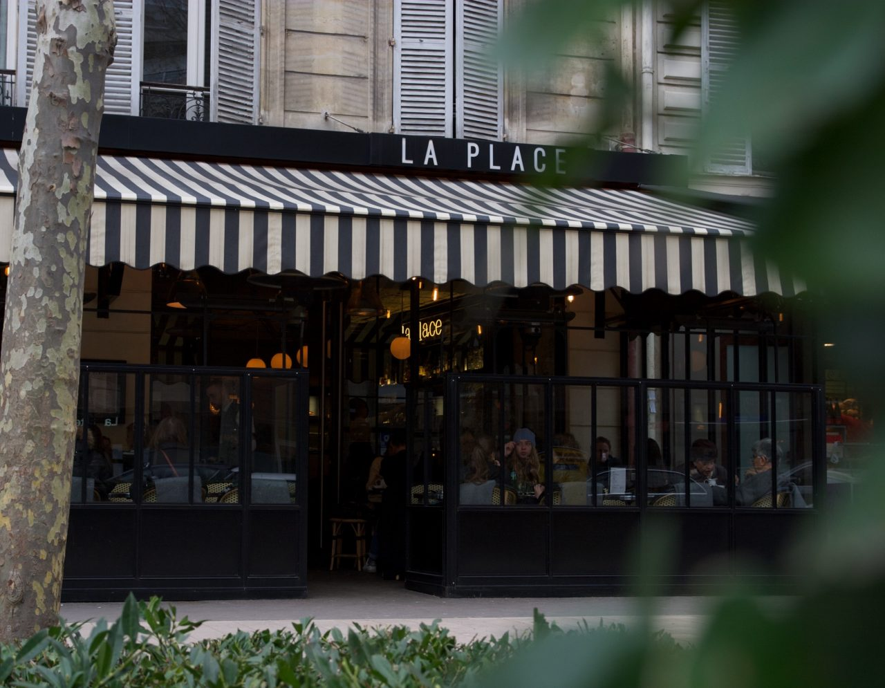 Terrasse hiver, restaurant, La Place, Neuilly