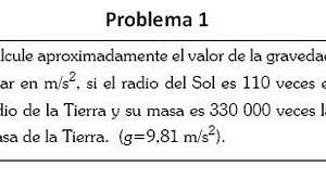 Problema Gravitación – Gravedad solar.