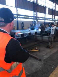 Le député Jean-Jacques Gaultier était en visite à l'usine Matière à Charmes.