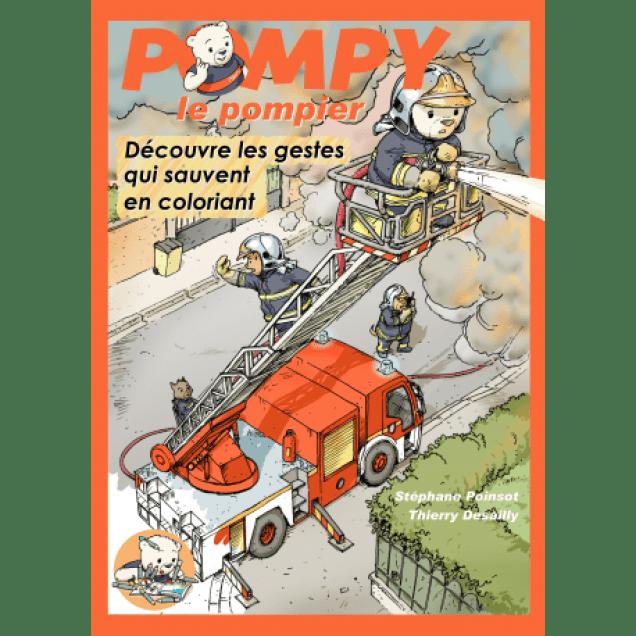 Apprendre les gestes qui sauvent en coloriant avec Pompy le pompier.