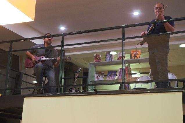 Les élèves de la classe de guitare électrique du professeur Laurent Reichert.